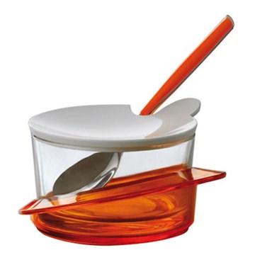 Imagen de Quesera c/cuchara naranja GLAMOUR