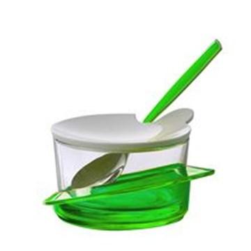 Imagen de Quesera verde c/cuchara GLAMOUR