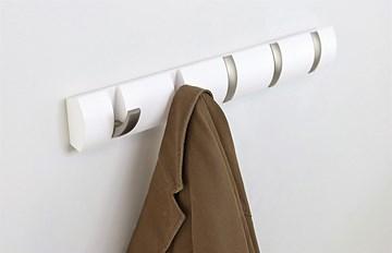 Imagen de Perchero de pared blanco x5 FLIP