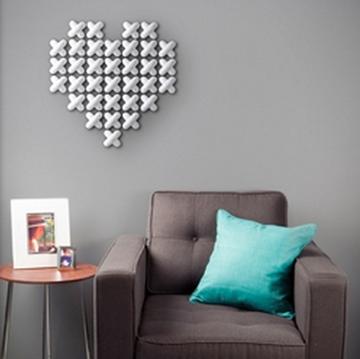 Imagen de Decoración de pared blanco CROSS STITCH