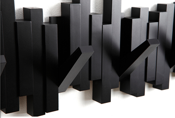 Imagen de Perchero de pared negro x5 STICKS
