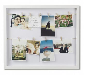Imagen de Portarretratos blanco x12 CLOTHESLINE