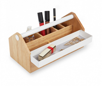 Imagen de Caja con compartimentos blanco / natural TOTO