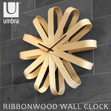 Imagen de Reloj de pared natural RIBBONWOOD