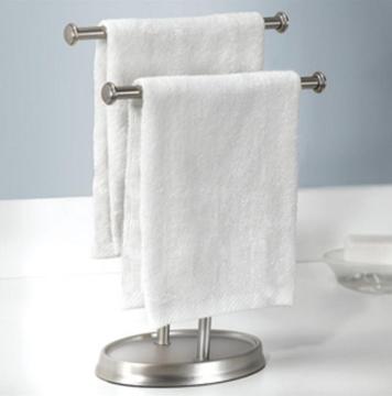 Imagen de Soporte doble para toalla nickel PALM