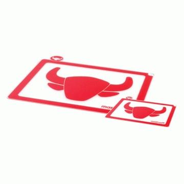 Imagen de Set de 2 tablas de cocina rojo