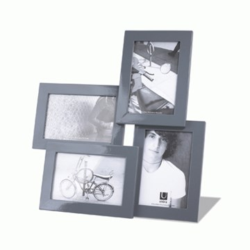 Imagen de Portarretratos modelo LIRA para 4 fotos de 10 x15. Gris