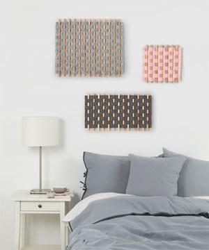 Imagen de Decoración de pared gris LOOMA