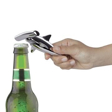 Imagen de Abridor botella 2 en 1 cromo HAMMERED HEAD