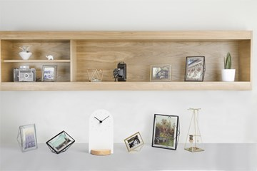 Imagen de Reloj escritorio blanco/natural SOMETIME