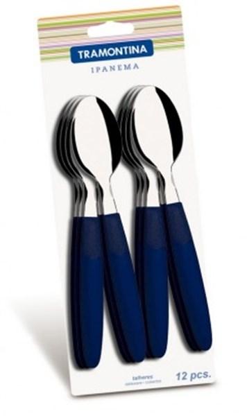 Picture of Blíster de 12 cucharas de mesa IPANEMA color azul