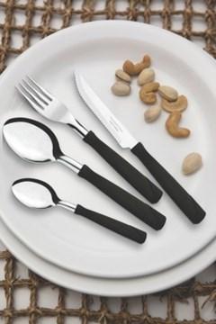 Imagen de Blíster 12 cucharas de mesa color negro NEW COLOR