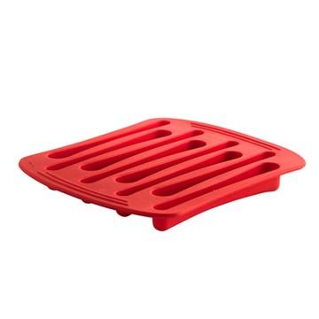 Imagen de Molde hielo forma cucharas rojo