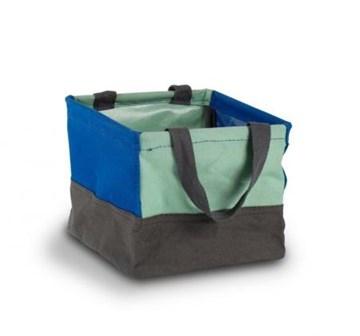 Imagen de Mini bolsa de tela azul índigo CRUNCH