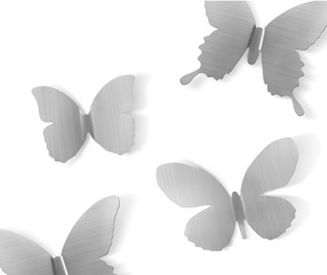 Imagen de Decoración pared nickel X9 METAL MARIPOSA