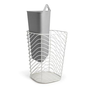 Imagen de Papelera para reciclar blanco/gris  COUPLET