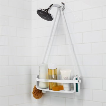 Imagen de Organizador ducha blanco FLEX SINGLE