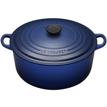 Imagen de Cocotte Redonda azul cobalto 28cm