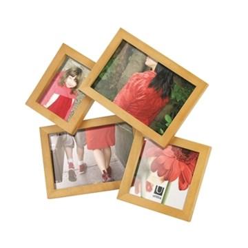 Imagen de Portarretratos escritorio x4 madera MOSH