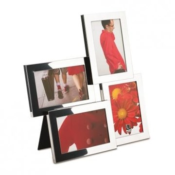 Imagen de Portarretratos cromo 10x15cm x4  LIRA