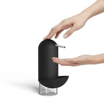 Imagen de Dispensador jabón c/esponja negro PINGÜINO