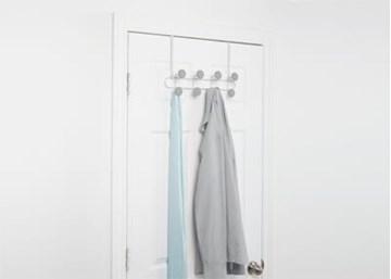 Imagen de Perchero sobre puerta-pared  x8bco/gris YOOK