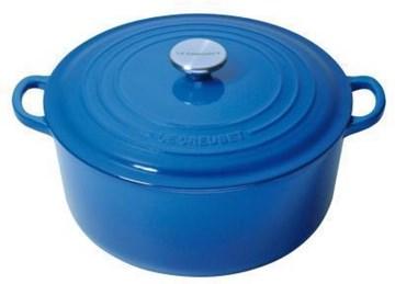 Imagen de Olla COCOTTE 28cm redonda azul marsella b.inox