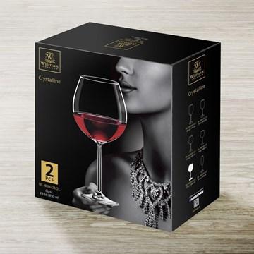 Imagen de Set 2 copas vino 850ml CRYSTALLINE C/R