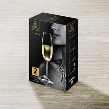 Imagen de Set 2 copas champagne 230ml CRYSTALLINE C/R