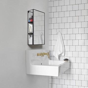 Imagen de Organizador c/espejo baño negro CUBIKO