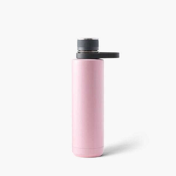 Picture of Botella térmica acero inox. carbón/rosa 710ml