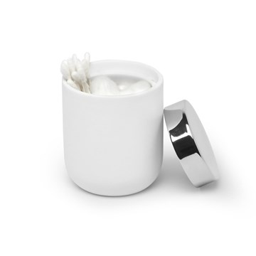 Imagen de Pote algodón blanco/cromo JUNIP