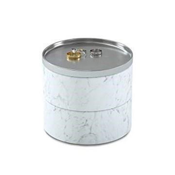 Imagen de Caja bijou blanca/cromo TESORA
