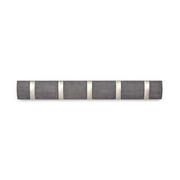 Imagen de Perchero de pared x5 gris/nickel FLIP