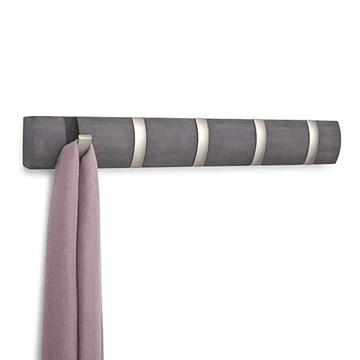 Imagen de Perchero de pared x5 gris/nickel FLIP