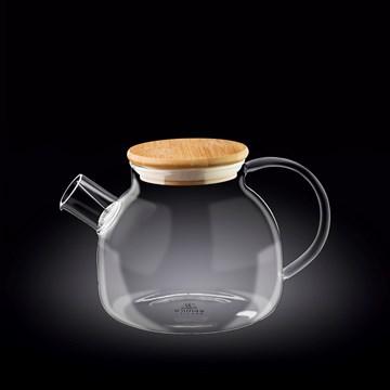 Imagen de TETERA 950ML C/TAPA BAMBU THERMO GLASS