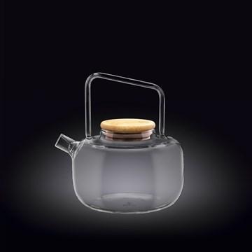 Imagen de TETERA 600ML C/TAPA BAMBU THERMO GLASS