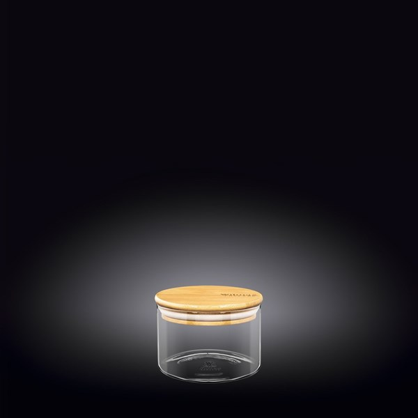Picture of FRASCO CON TAPA BAMBOO 400ML THERMO GLASS