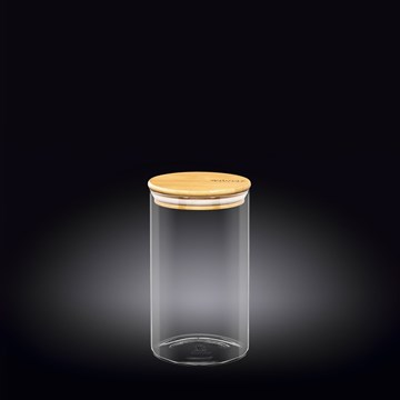 Imagen de FRASCO CON TAPA BAMBOO 1100ML THERMO GLASS