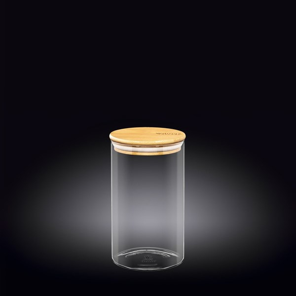 Picture of FRASCO CON TAPA BAMBOO 1100ML THERMO GLASS