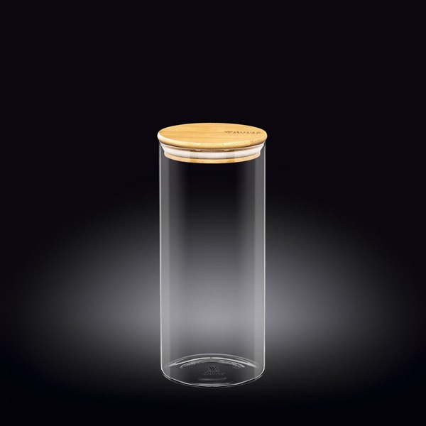 Picture of FRASCO CON TAPA BAMBOO 1500ML THERMO GLASS