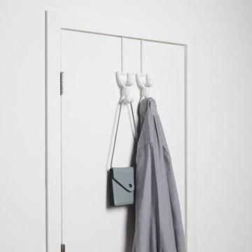 Imagen de Perchero sobre puerta x2 blanco BUDDY